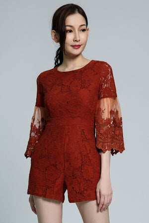 Lace Playsuit 1763 - ample-couture
