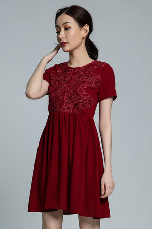 Embroidery Dress 1765 - ample-couture