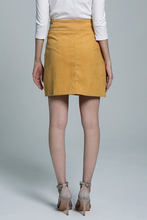Button Skirt 1740 - ample-couture