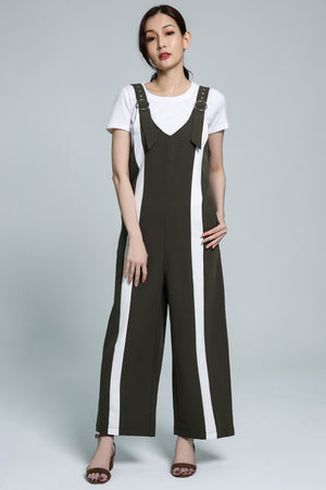 Stripe Jumpsuit with Top Set 1772