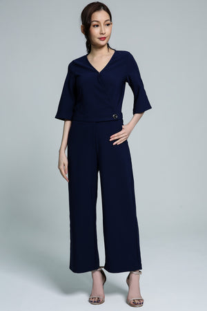 V-Neck Jumpsuit 1775