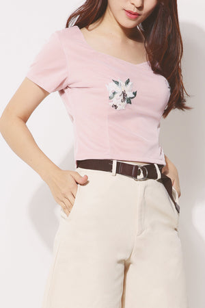 Flower Patch Cropped Top 4281 - ample-couture