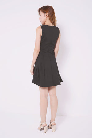 Sleevless Flare Dress 4565 - ample-couture