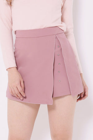 Overlay Studded Shorts 4553 - ample-couture