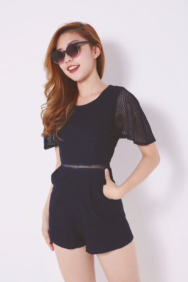 Lace Detailed Romper 4589 - ample-couture