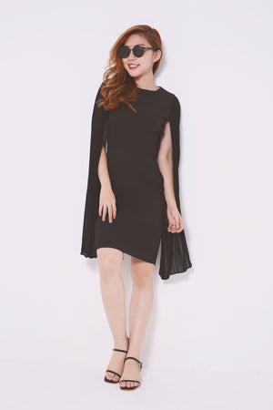 Long Sleeve Midi Dress 4590 - ample-couture