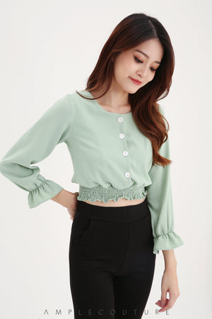 Front Button Top 7926 Tops