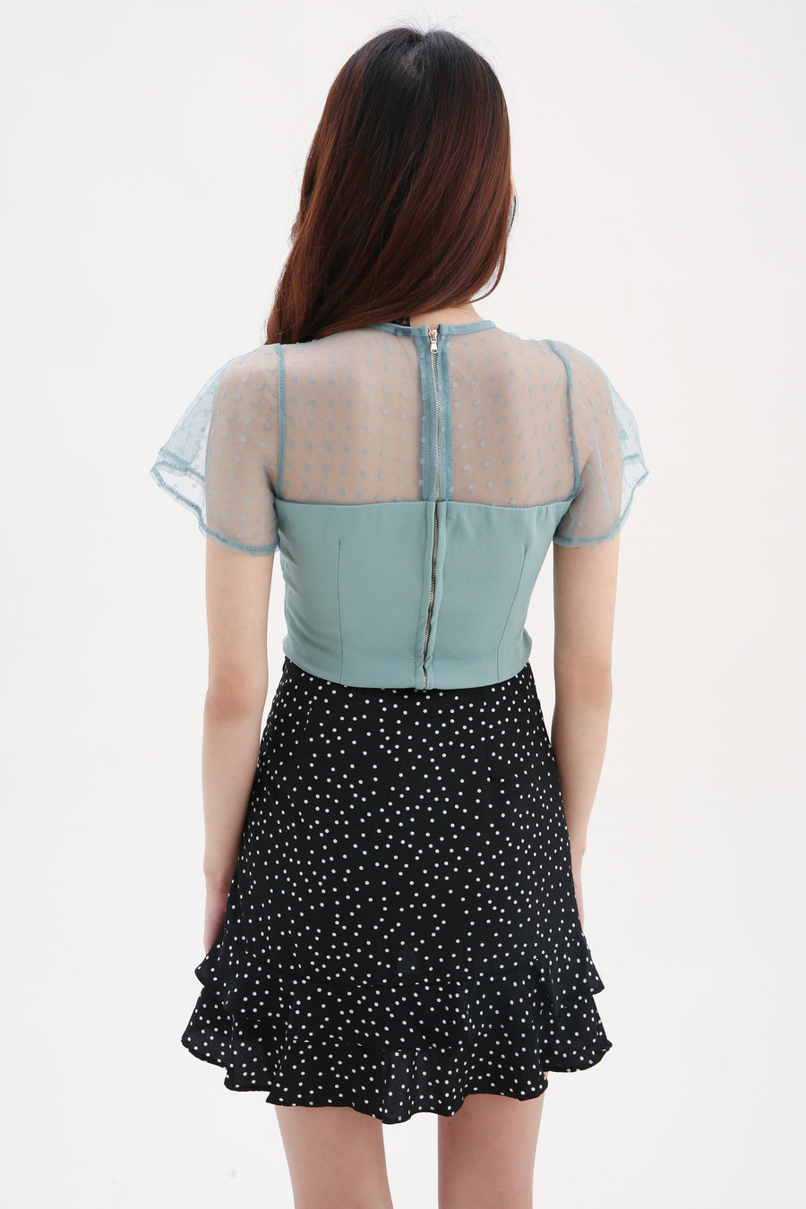 Polka Dot Net Top 8130 Tops