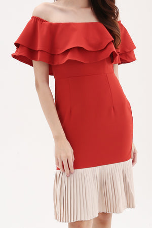 Bottom Pleated Dress 8135 Dresses