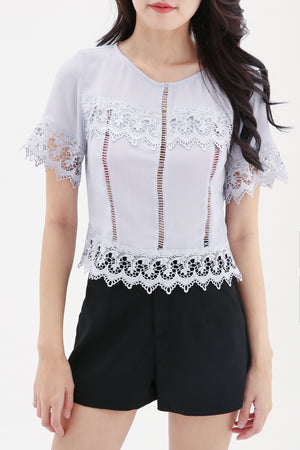 Lace Patch Top 8316