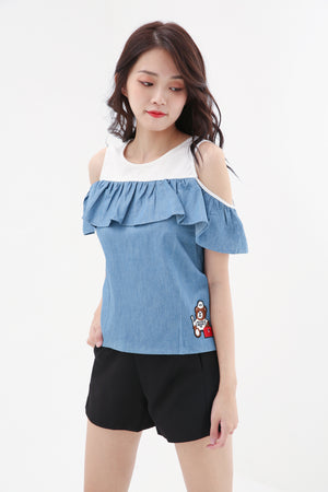 Denim Top 8497