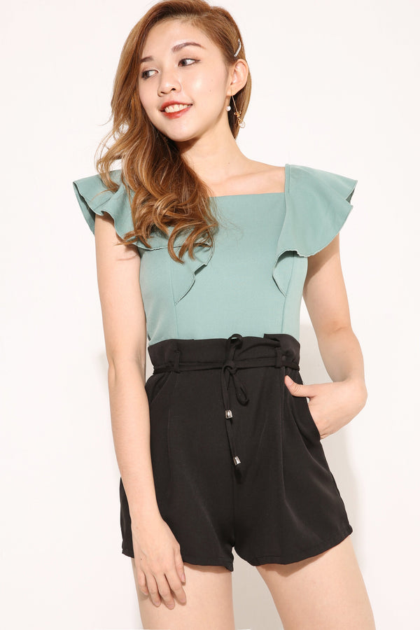 Color Block Romper 4090 - ample-couture