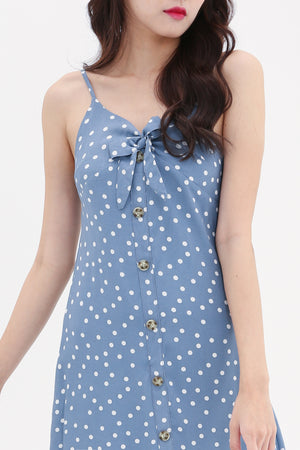 Polka Dot Strap Dress 8581