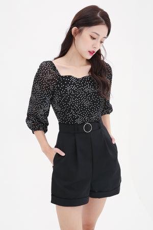 Polka Dot Top Playsuit 8596
