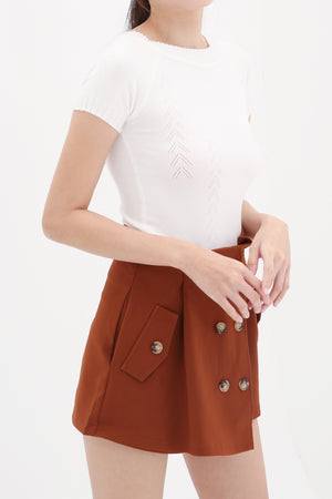 Button Skirt Pants 8533