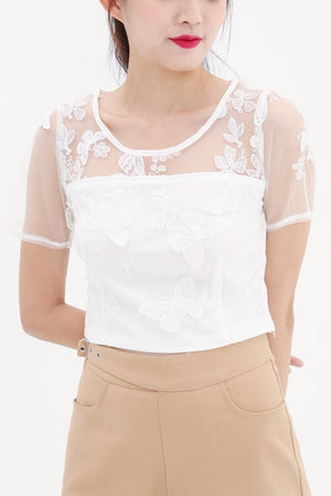 Butterfly Lace Top 8543