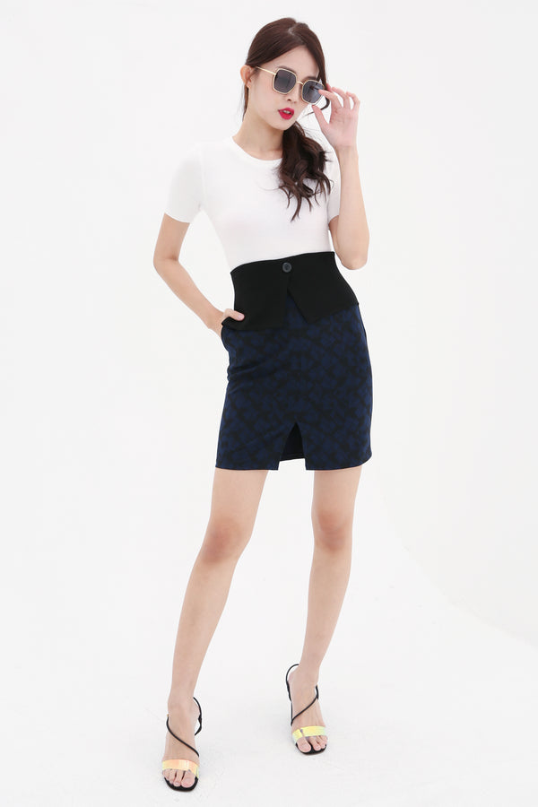 Checker Skirt 8619