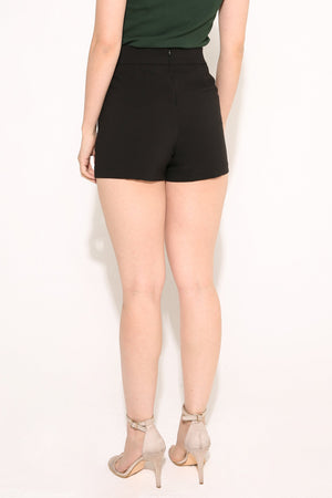 Buckle Detail Shorts 4096 - ample-couture
