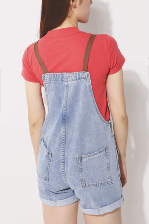 Denim Short Dungarees 4197 - ample-couture
