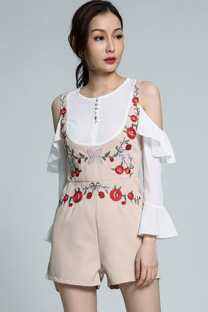 Embroidery Playsuit 1791