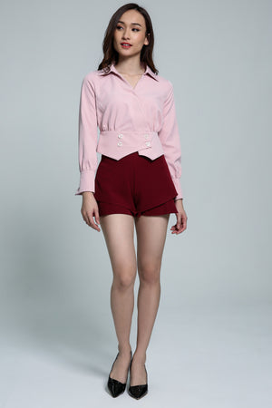 V-Neck Blouse 1803