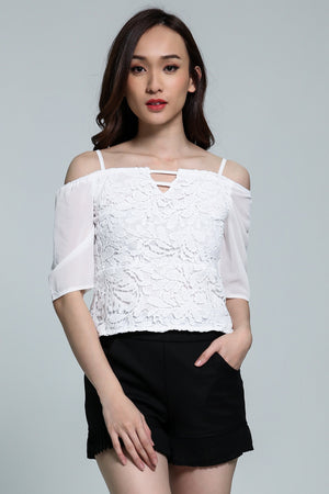 Off Shoulder Lace Top 1807