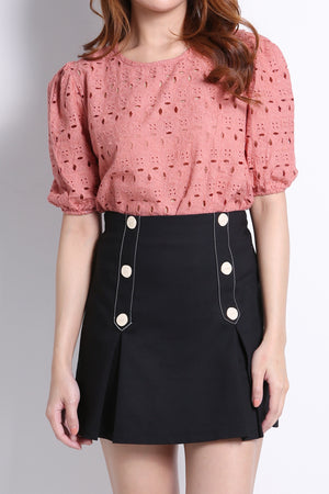 Decorative Button Skirt 10634