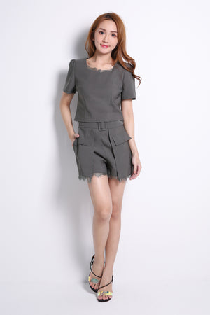 Short Sleeve Top With Short Pants Set 10658