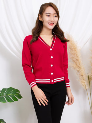 Stripe Knit Cardigan 11292
