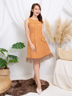 Front Button Dress 11313