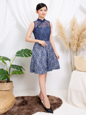Sleeveless Lace Dress 11220
