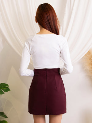 Decorative Button Skirt
