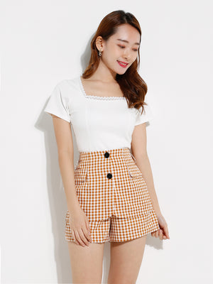 Checker Short Pants 12662