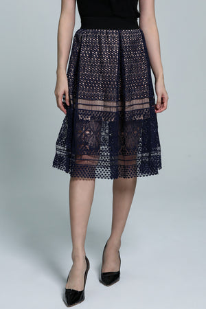 Knit Lace Dress 1821 - ample-couture
