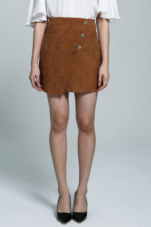 Button Skirt 1813 - Ample Couture