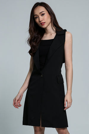 Collar V-Neck Dress 1814 - Ample Couture