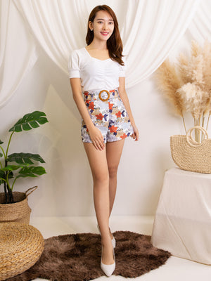 Printed Short Pants 12055