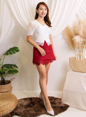 V Neck Lace Top