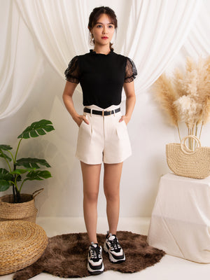 Basic Short Pants With Belt