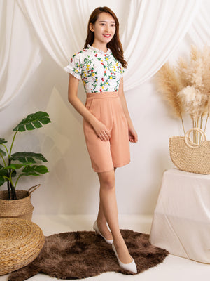 Dual Tone Flower Playsuit 11992