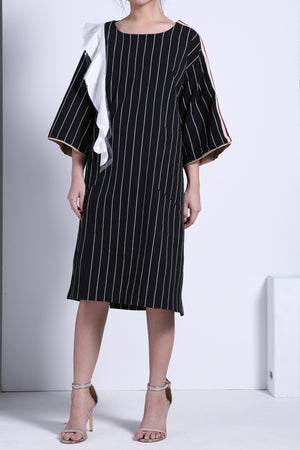 Flare Stripe Dress 1974 - ample-couture