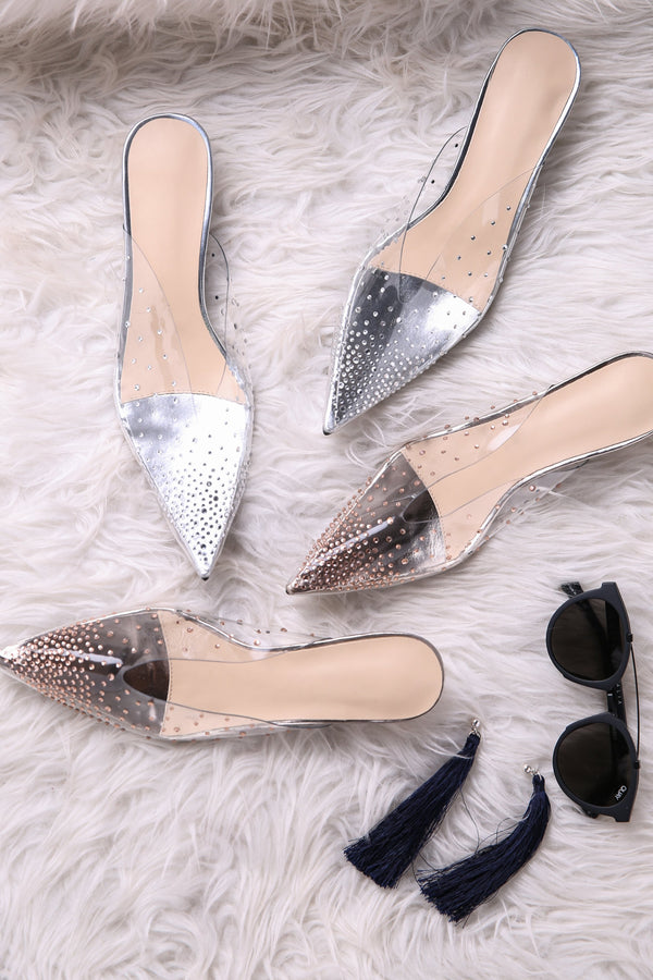 Transparent Bling Heels S003 - ample-couture