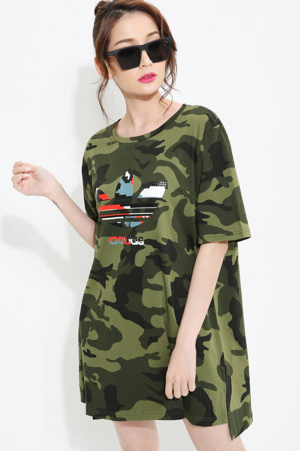 Adidas Army Shirt Dress 0993