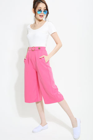 ¾  Fake Button Pants 0992