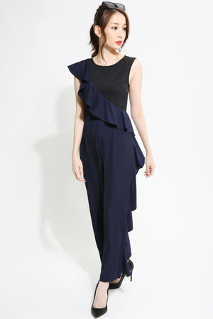 Layered Long Jumpsuit 0972 - ample-couture