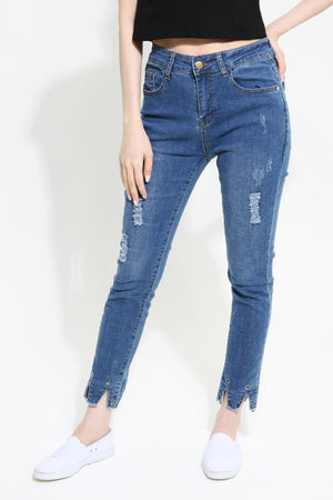 Denim Long Pants 0973