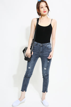 Dark Denim Long Jeans Pants 1021