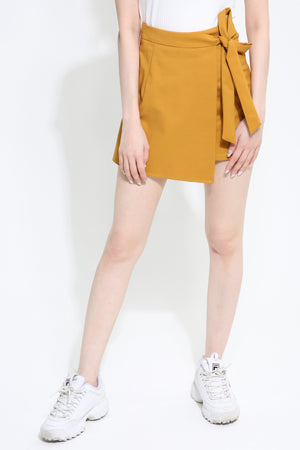 Side Tie Short Pants 0986
