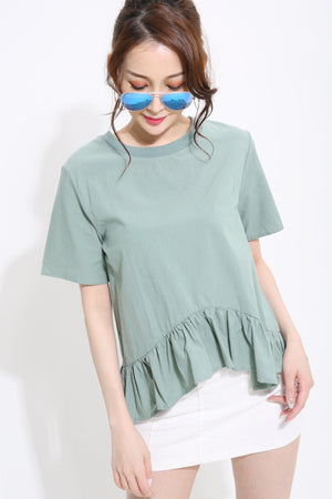 Short Sleeves Pleated Blouse 0970 - Ample Couture