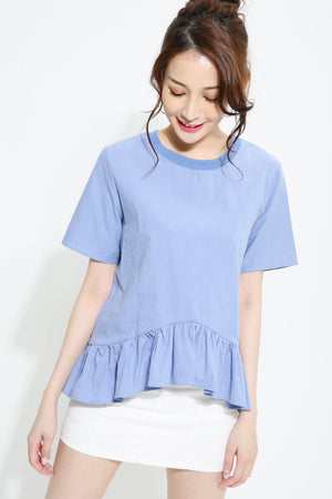 Short Sleeve Pleated Blouse 0970 - Ample Couture